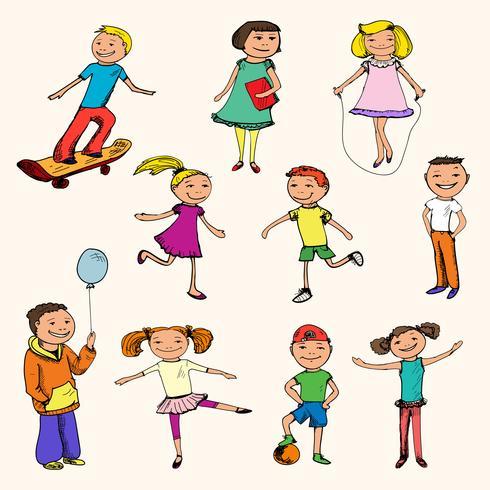 Kinderen tekens tekenen gekleurd