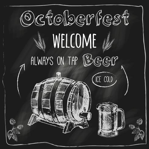 Torne o cartaz de quadro-negro de design de cerveja