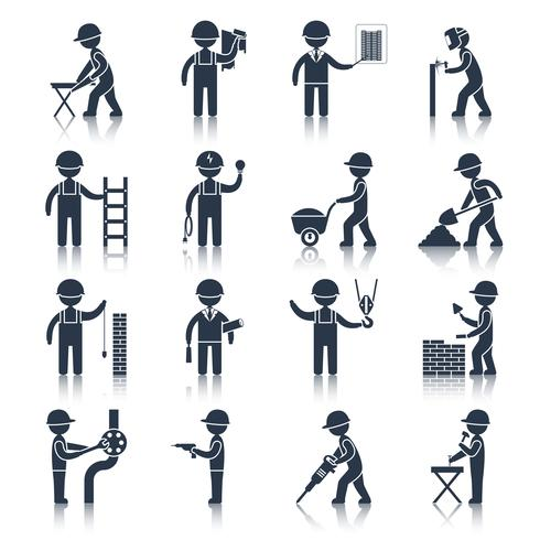 Bauarbeiterikonenschwarzes