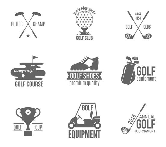 golf label set