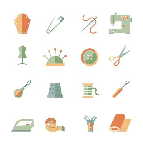 Naaien apparatuur Icons Set