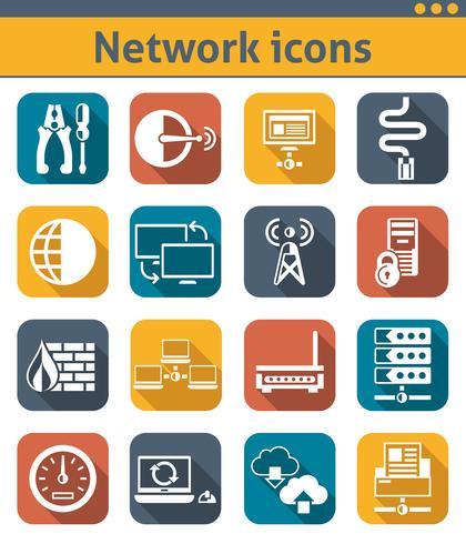 Inställningar för nätverksikoner vektor