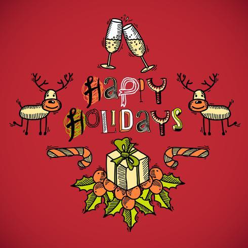 Desenho de cartão de natal