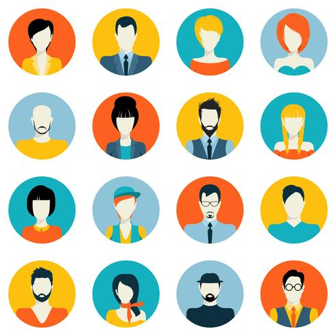 Set di icone di avatar vettore