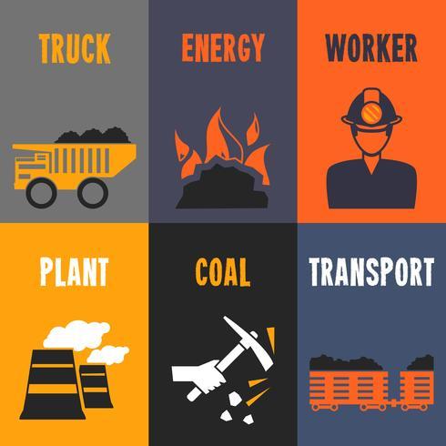 Mini manifesti dell'industria del carbone
