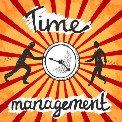 Schizzo di poster gestione tempo