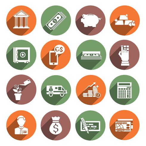 Iconos de servicio bancario vector