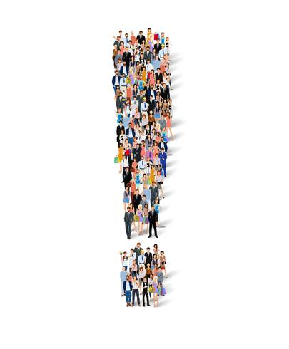 Group of people exclamation poster