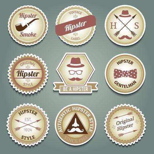Etichette di carta hipster