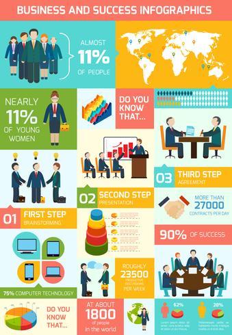 Infografía de reunión de negocios vector