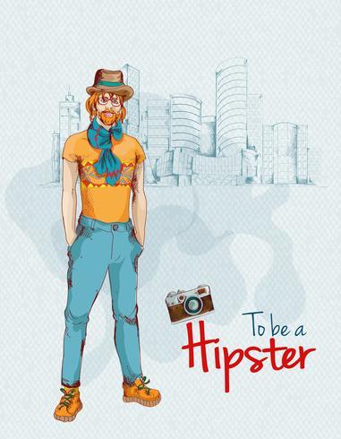 Città ragazzo hipster