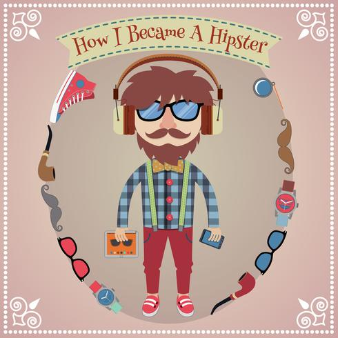 Hipster boy poster