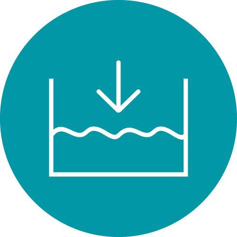 Nedan havsnivå Vector Icon