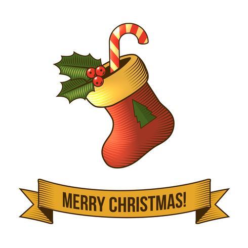 Icono de calcetín de navidad