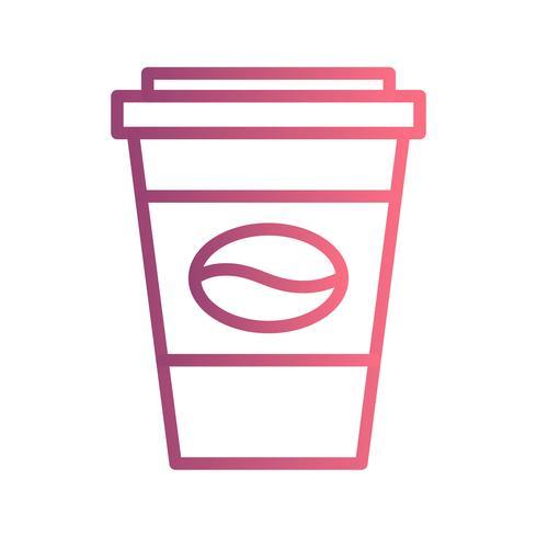 Icône de café de vecteur