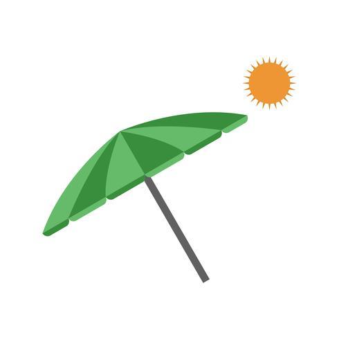 Icono de Vector de sombrilla de playa