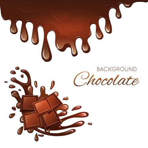 Milchschokolade und Spritzer