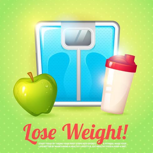 Dieta do cartaz do peso