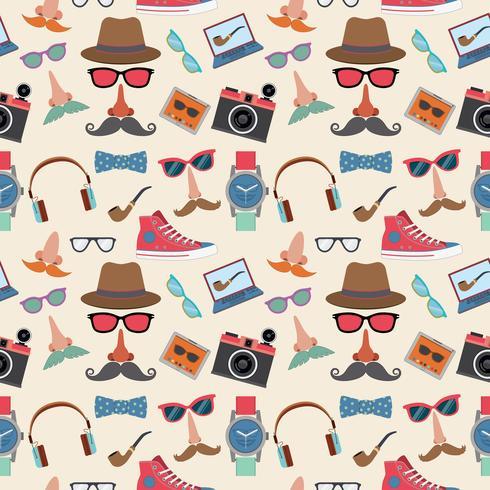 Hipster de patrones sin fisuras