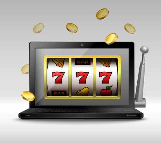 Online gambling concept vector