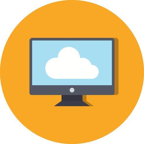 Vector conectado al icono de la nube