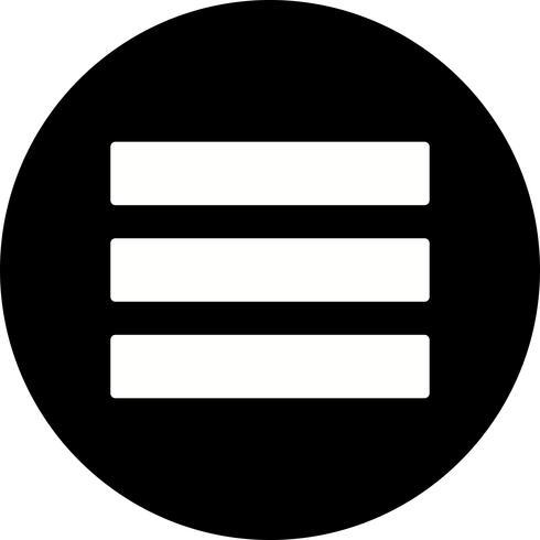 icono de vector de menú