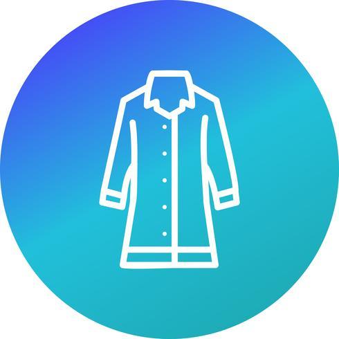 Icona di vettore di cappotto di pioggia
