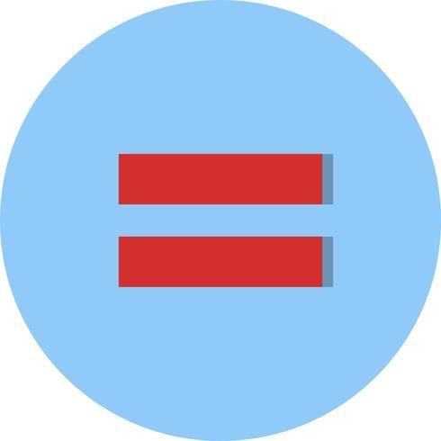 Égale à Vector Icon