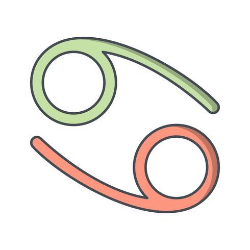 cancervektorns ikon