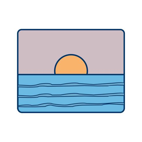 Sunset Vector Icon