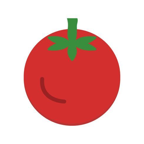 Icône de tomate de vecteur