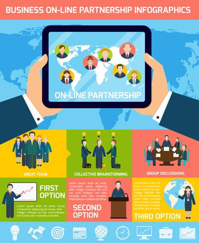 Business partnership infographics vector