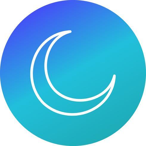 Icône de vecteur de nouvelle lune