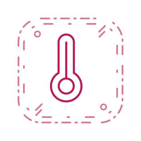Icono de vector de temperatura