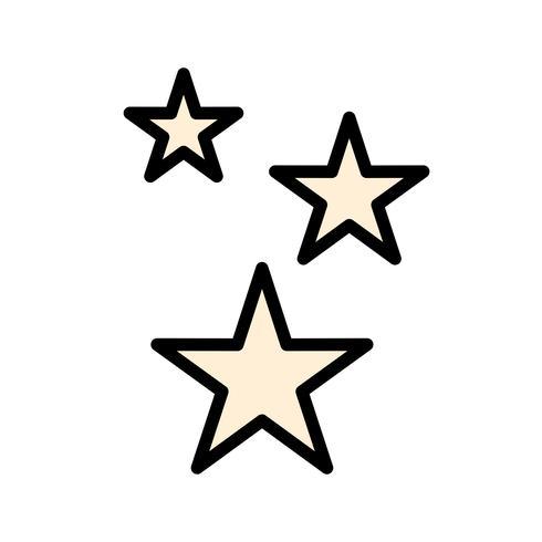 Estrellas vector icono