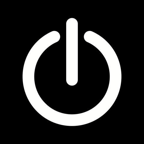 Desligamento, vetorial, ícone