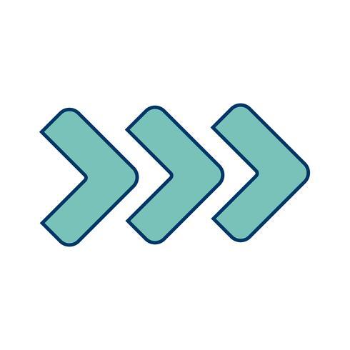 Vector Forward Arrows Icon