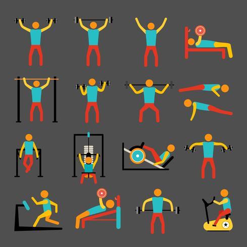 Ensemble d'icônes de formation d'entraînement