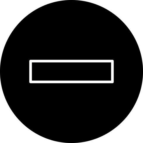 Menos vector icono