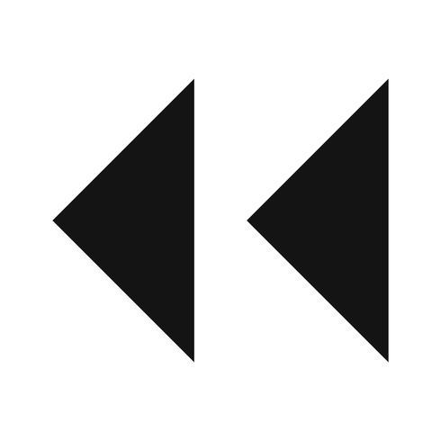 Vector achteruit pijlen pictogram