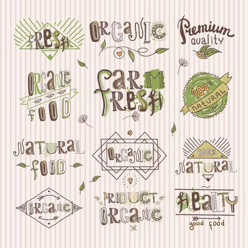 Etichetta alimentare naturale
