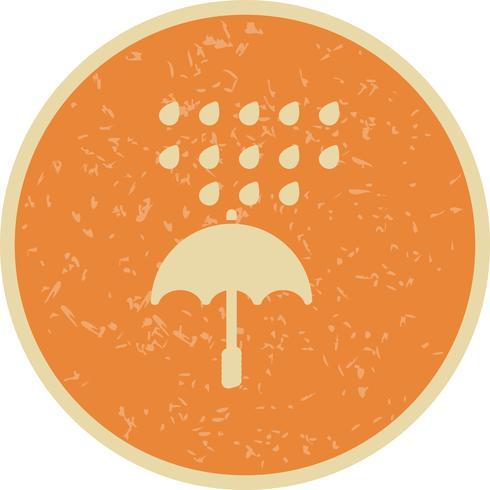 Icono de Vector de paraguas y lluvia