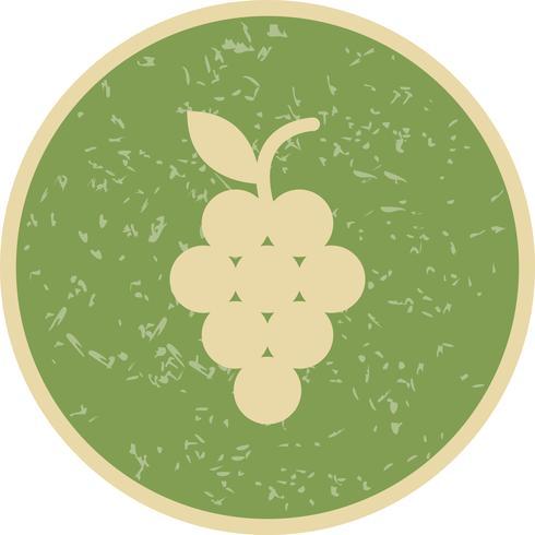 Vector icono de uvas