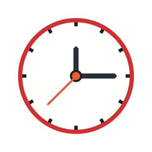 Icône d'horloge de vecteur