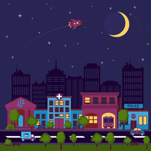 City scape night background