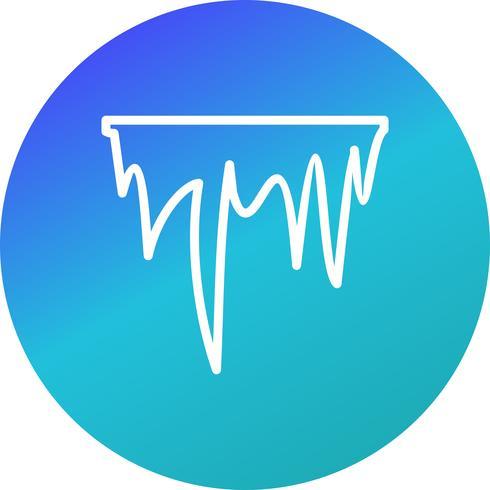 Icono de vector de carámbano