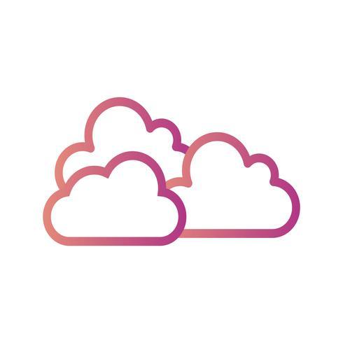 Bewolkt Vectorpictogram