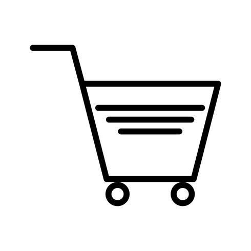Ícone de carrinho de compras de vetor