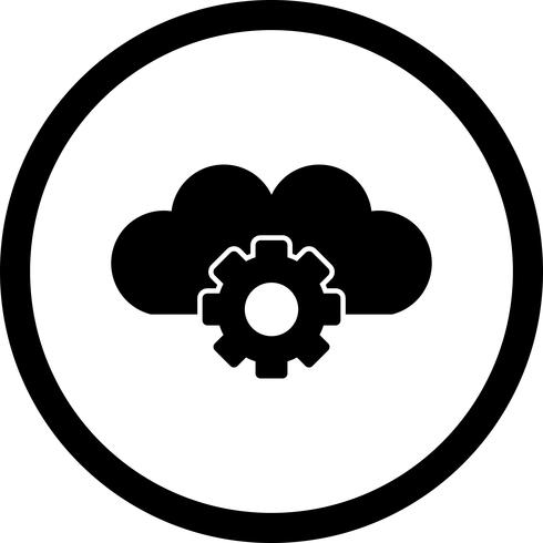 Vector Cloud Settings Icon