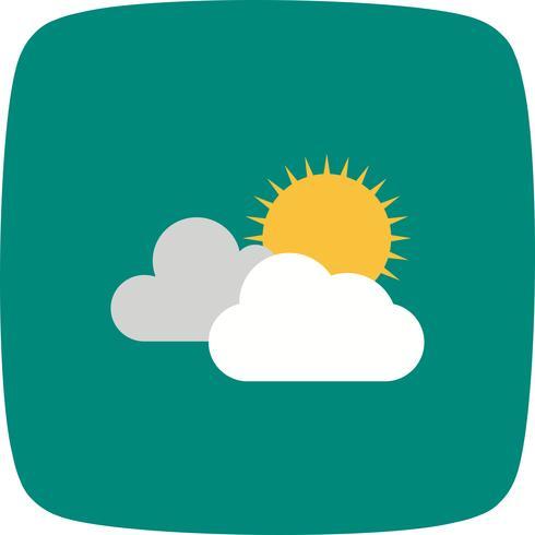 Icono de vector soleado